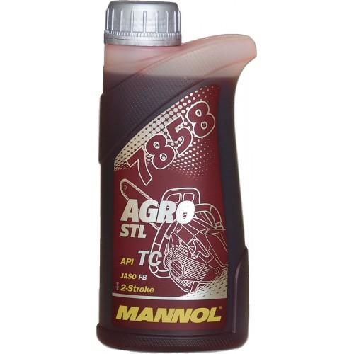 Масло моторное для 2-х тактных двигателей Mannol 7858 Agro Formula S 0.5 л.